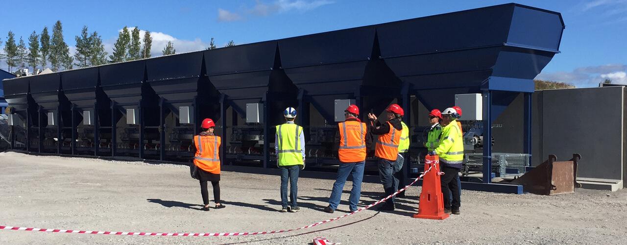Invigning av Skanskas nya asfaltverk