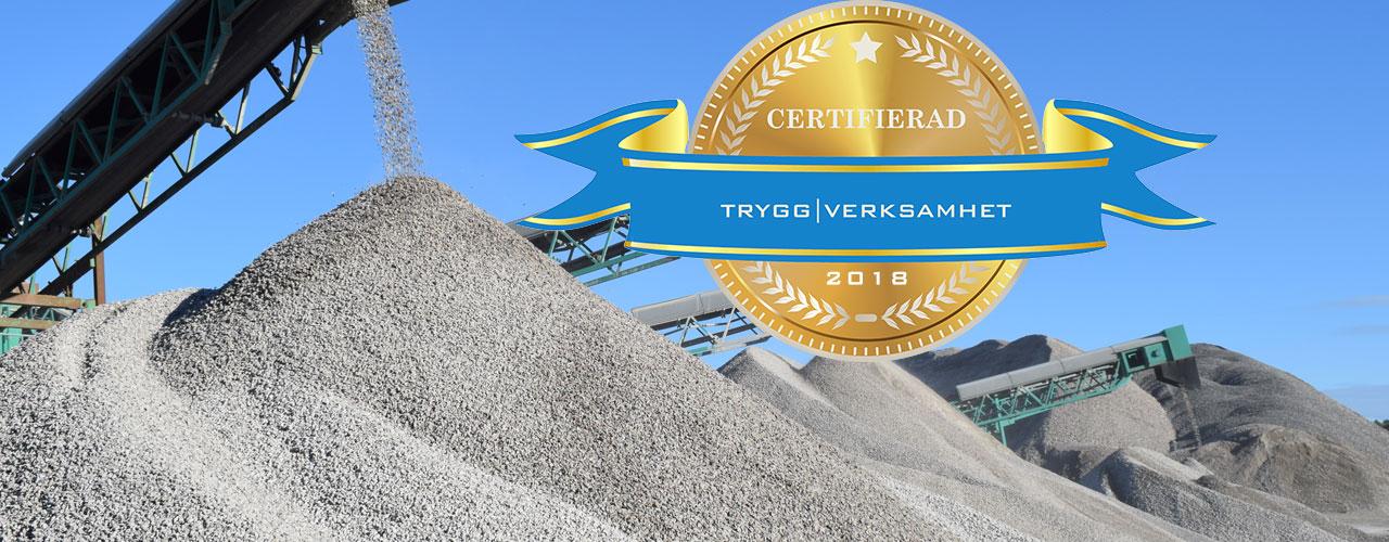 Åkerigrus-Trygg Verksamhet Certifierad